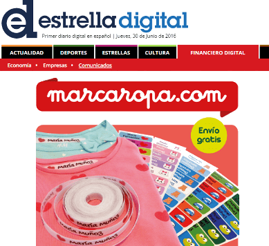 Marcaropa.com launches a new pack of 155 custom labels for clothing and objects