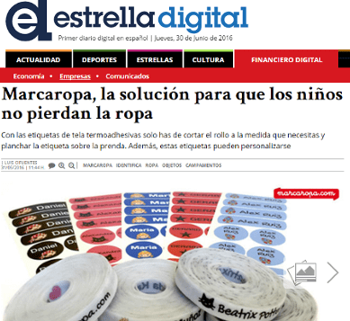 MarcaRopa, the solution so that children do not lose clothes